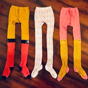 HANNA ANDERSSON // Set Of 3 Graphic Girls Tights